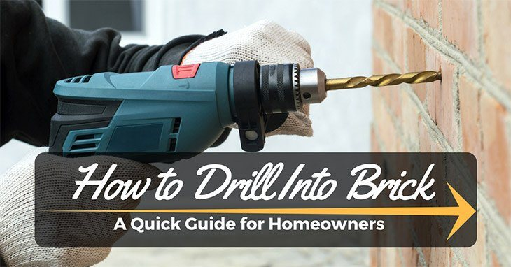 how to drill into brick
