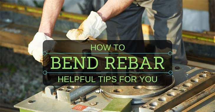 how to bend rebar