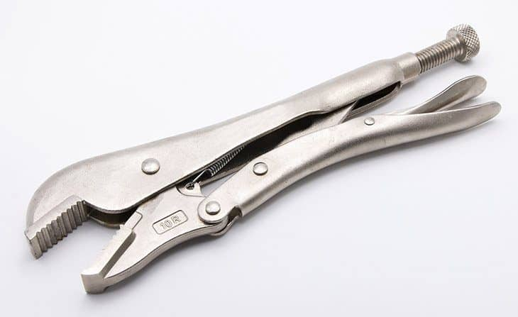 how to remove one way screws with locking pliers