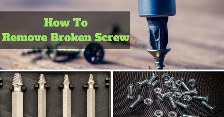 How to remove broken screw