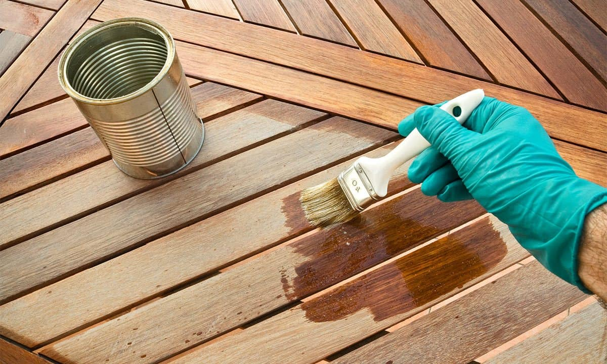 staining parawood