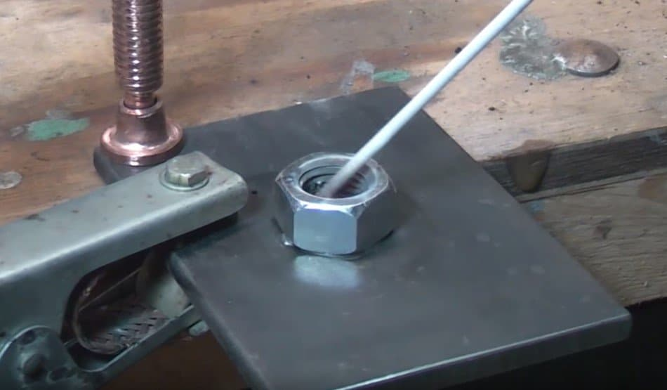 remove a damaged screw - weld